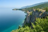 coast of Ohrid lake near Trpejca, Republic of Macedonia