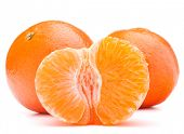 picture of mandarin orange  - tangerine or mandarin fruit isolated on white background cutout - JPG