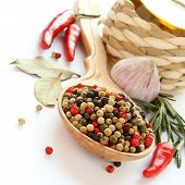 Pepper, Olive Oil, Chinese Garlic , Herbs And Spices