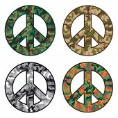 picture of camo  - Peace Camo collection of peace symbols with camouflage designs - JPG