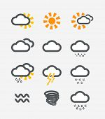 Forecast weather icons set