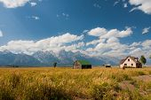 Mormon Row in Grand Teton National Park,USA