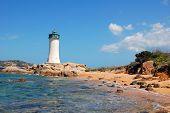 Lighthouse In Blu Sea