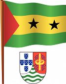 Sao Tome And Principe Wavy Flag