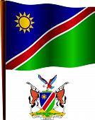 Namibia Wavy Flag