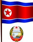 North Korea Wavy Flag