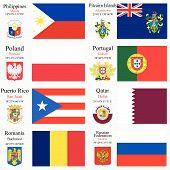 Capitais e bandeiras do mundo conjunto 19