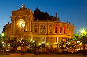 Odessa Opera And Ballet Theater At Night