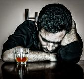 stock photo of lonely  - Alcoholism  - JPG