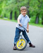 Little boy on a bicycle