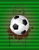 image of stein  - illustration of soccer ball with grunge stein - JPG