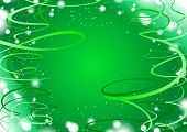 Green shine background