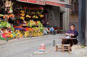 Drinking Apple Tea In Istanbul