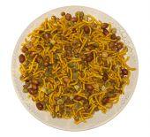 Постер, плакат: Бомбей смесь индийской закуска на круглой пластине