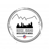 foto of boise  - stamp Boise - JPG