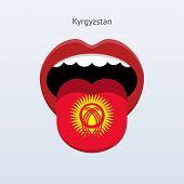 Kyrgyzstan language. Abstract human tongue.