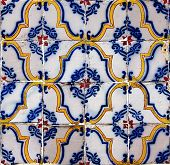 Seamless Tile Pattern Of Antique Tiles