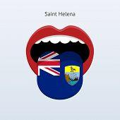 Saint Helena language. Abstract human tongue.