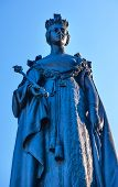 Queen Statue Provincial Capital Legislative Buildiing Victoria British Columbia Canada