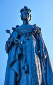 Queen Statue Provincial Capital Legislative Buildiing Victoria British Columbia Canada