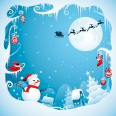 Christmas border for design