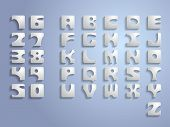 3D cubic font. The font is developed by me