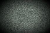 Dark Leather Background With Spotlight