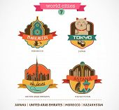 pic of dubai  - World Cities labels and icons  - JPG