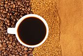 pic of coffee grounds  - Coffee grains - JPG