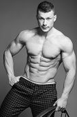 picture of jock  - The beautiful and strong muscular young guy - JPG