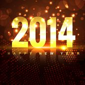 beautiful shiny happy new year style background