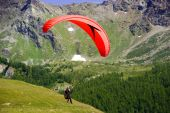 Paragliding In Flight