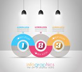 stock photo of generic  - Infographic Design Template with modern flat style - JPG