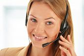 foto of helpdesk  - Call center operator - JPG