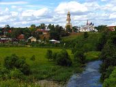 Picturesque Rural Landscape In Suzdal