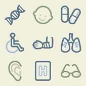 Medicine web icons, money color set