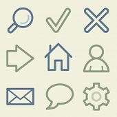 Basic web icons, money color set