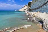 pic of sidari  - West north coast at Corfu island in Greece - JPG