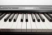 keys of digital piano synthesizer