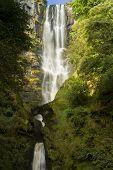 Pistyll Rhaeadr Waterfall - High Waterfall In Wales, United Kingdom