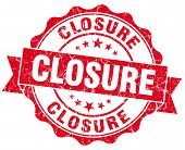 Closure Red Vintage Seal Isolated On White