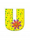 Alphabet Zany Dots U