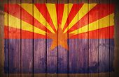 Arizona Flag Wood Background