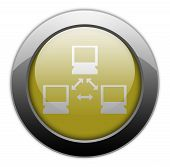 pic of vpn  - Icon Button Pictogram Image Illustration with Network symbol - JPG