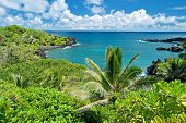stock photo of pacific islands  - View of the Hawaii paradise on Maui island - JPG
