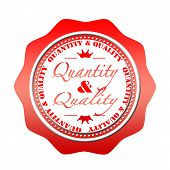 Quantity And Quality Stamp