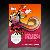 vector event brochure flyer template illustration