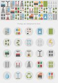 Ecology infographic / eco system & icons