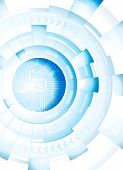 Abstract technology blue white background. Raster.