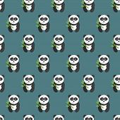 pic of panda  - Beautiful and funny Seamless panda bear pattern - JPG